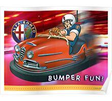 ALFA Giulia Bumper Car Poster
