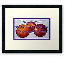 Banner - TLFH - Challenge winner Framed Print