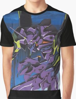 Neon Genesis Evangelion - Unit-01 Knife (Cleaned) Graphic T-Shirt