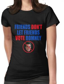 No Romney Womens Fitted T-Shirt