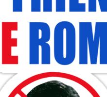 No Romney Sticker