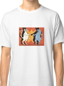 Cats playing conkers with mice Classic T-Shirt