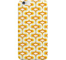 yellow wave retro pattern iPhone Case/Skin
