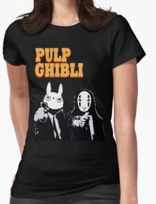 Pulp Ghibli - Studio Ghibli and Pulp Fiction Womens Fitted T-Shirt