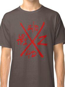 Dead Walking Zombie X-Code (RED) Classic T-Shirt
