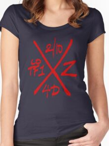 Dead Walking Zombie X-Code (RED) Women's Fitted Scoop T-Shirt