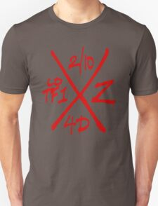 Dead Walking Zombie X-Code (RED) T-Shirt