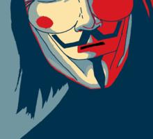 V - Occupy Sticker