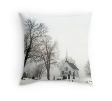 White Scene Throw Pillow