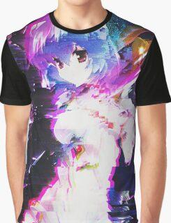 Neon Genesis Evangelion - Rei Ayanami - Pixel Sorting - Glitch Art Graphic T-Shirt