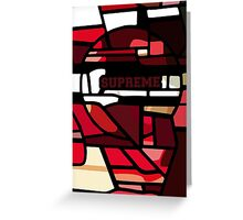 Stained Supreme Greeting Card