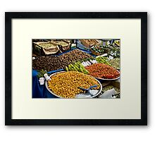 Different Types Of Hawthorns At A Street Market  Framed Print
