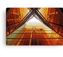 Abstract image of office windows Canvas Print