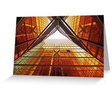 Abstract image of office windows Greeting Card