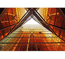 Abstract image of office windows Photographic Print