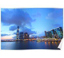 Hong Kong sunset view at Kowloon district Poster