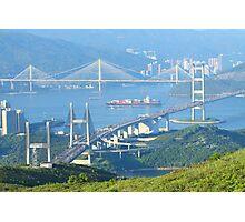 Three famous bridges in Hong Kong at day Photographic Print