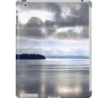 Calm Water Under Cloudy Sky - Puget Sound iPad Case/Skin