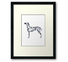 Industrial Silver Dog Framed Print