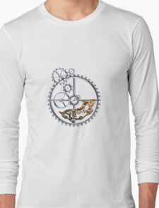 Industrial Silver Dog Long Sleeve T-Shirt