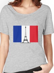 France Flag, Eiffel Tower Women's Relaxed Fit T-Shirt