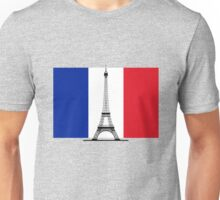France Flag, Eiffel Tower Unisex T-Shirt