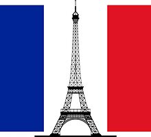 France Flag, Eiffel Tower by PingusTees