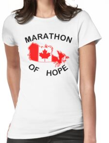 Marathon of Hope, 1980 Womens Fitted T-Shirt
