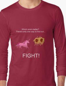 Invisible Pink Unicorn vs Flying Spaghetti Monster (dark) Long Sleeve T-Shirt