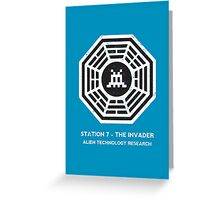 Station 7 - The Invader Greeting Card