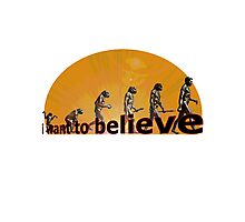 i want to believe (evolution) Photographic Print