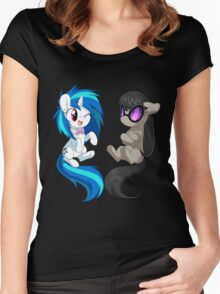 MLP - Vinyl & Octavia Women's Fitted Scoop T-Shirt