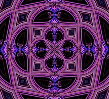 Fractal Stainedglass Ceiling by aprilann