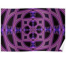 Fractal Stainedglass Ceiling Poster
