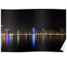 Sharjah Buhairah Corniche Poster