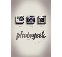 Photogeek Photographic Print