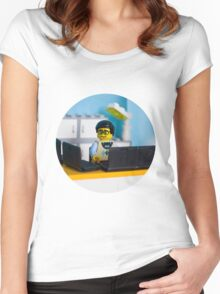Lego geek Women's Fitted Scoop T-Shirt