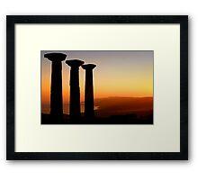 Temple Of Athena / ASSOS – Turkey Framed Print