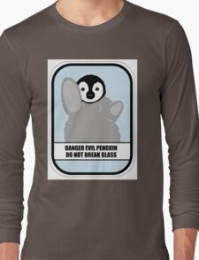 Danger Evil Penguin Long Sleeve T-Shirt