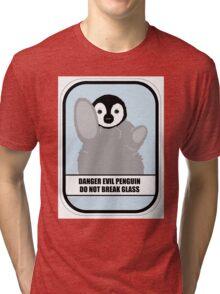 Danger Evil Penguin Tri-blend T-Shirt