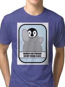 Danger Evil Penguin Tri-blend T-Shirt
