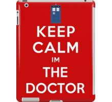Keep calm im the doctor iPad Case/Skin