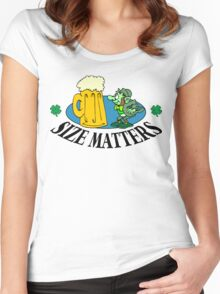 """Very Funny Irish """"Size Matters"""" Women's Fitted Scoop T-Shirt"""