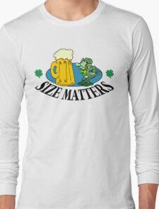 """Very Funny Irish """"Size Matters"""" Long Sleeve T-Shirt"""