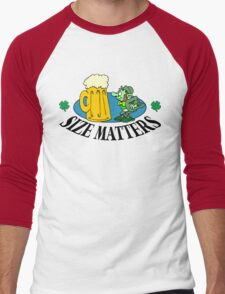 "Very Funny Irish ""Size Matters"" Men's Baseball ¾ T-Shirt"