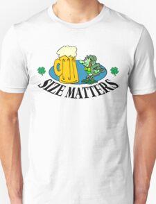 """Very Funny Irish """"Size Matters"""" Unisex T-Shirt"""