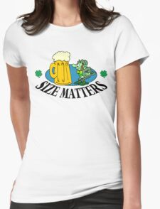 "Very Funny Irish ""Size Matters"" Womens Fitted T-Shirt"