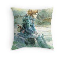 Nausicaa of the Valley of the Wind - Hayao Miyazaki - Pre Studio Ghibli (HD) Throw Pillow