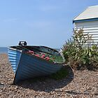 Small Boat on shingle by janlou