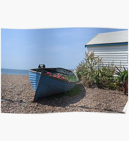 Small Boat on shingle Poster